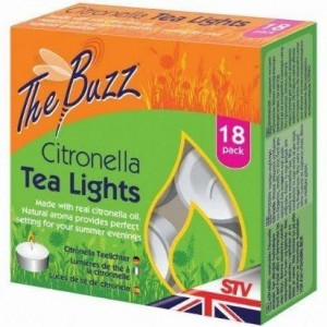 The Buzz Citronella Tea Lights (18 Pack)