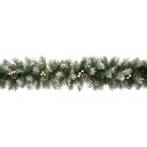 Decorative Christmas Snow Tipped Garland 2.7m