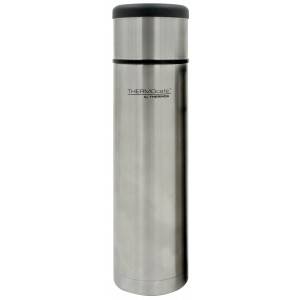 ThermoCafe Stainless Steel Flat Top Flask 1L