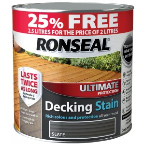 Ronseal Ultimate Protection Decking Stain 2L ( +25% Extra) Slate