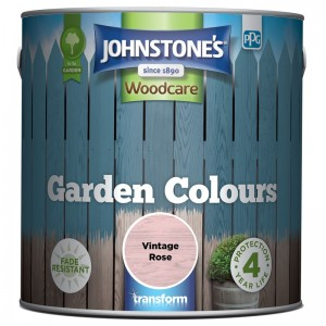 Johnstones Garden Colours Paint 2.5L Vintage Rose
