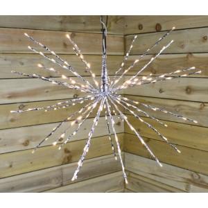 Kaemingk LED Flashing Polestar (72 LED) Silver Cable Warm White LED