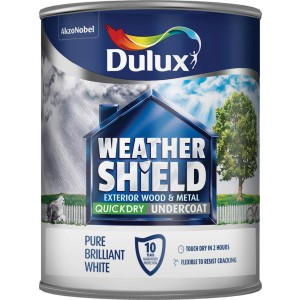 Dulux Weathershield Exterior Undercoat 750ml Pure Brilliant White