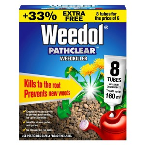 Weedol Pathclear Weed Killer (8 Tubes)