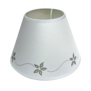 "Star Flower Lampshade 10"" White"