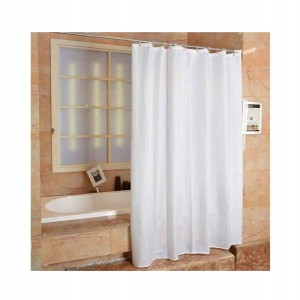 Blue Canyon Plain Peva Shower Curtain White