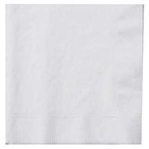 Caroline Napkins (100 Pack) White