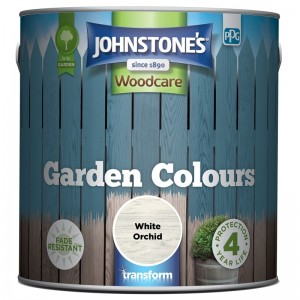 Johnstones Garden Colours Paint 2.5L White Orchid