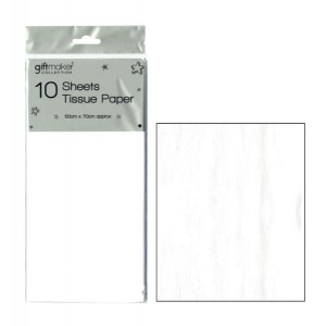 Giftmaker Collection Tissue Paper Sheets (10 Pack) White