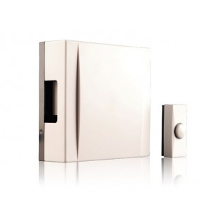 Byron Wall Mounted Hard Wired Chime Kit Cream