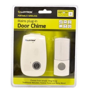 Lloytron Plug In Wireless Door Chime