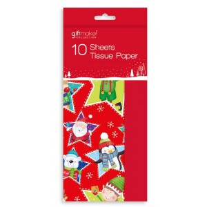 Christmas Tissue Paper (10 Sheet) Characters