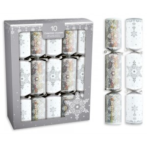 Snowflake Christmas Crackers 10 x 14""
