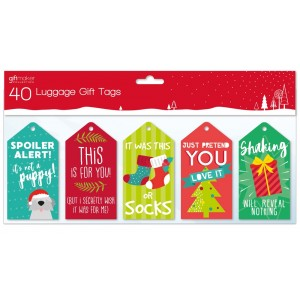 Christmas Gift Tags (40 Pack) Funny