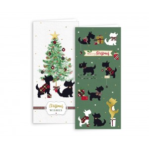 Christmas Cards (10 Pack) Scottish Terrier Assorted