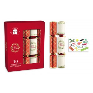 """Traditional Christmas Crackers 12"""" (10 Pack)"""
