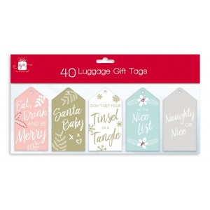 Christmas Gift Tags (40 Pack) Modern