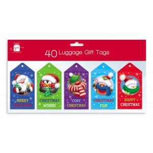 Christmas Gift Tags (40 Pack) Cute