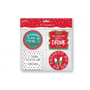 Christmas Novelty Coasters (8 Pack)