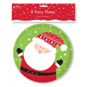 Kids Christmas Plates (8 Pack)