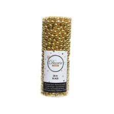 Christmas Bead Garland Gold