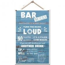 Bar Rules Plaque