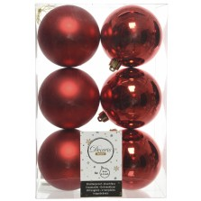 Christmas Shatterproof Baubles (6 Pack) Red