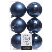 Christmas Shatterproof Baubles (6 pack) Navy Blue