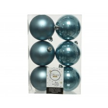 Christmas Shatterproof Baubles (6 Pack) Blue Dawn 8cm