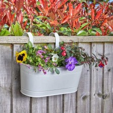 12in Fence & Balcony Hanging Planter - Ivory