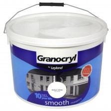 Leyland Granocryl Smooth Masonry Paint 10L Brilliant White