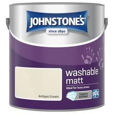 Johnstones Washable Emulsion Paint 2.5L Antique Cream