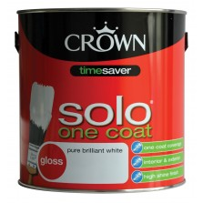 Crown Solo Gloss Paint 2.5L Pure Brilliant White