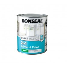 Ronseal Stays White 2 in 1 Primer & Paint 750ml White Matt
