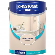 Johnstones Vinyl Emulsion Paint 5L Classic Cream Soft Sheen