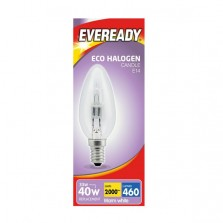 Eveready 33W = 40W SES Warm White Candle Bulb