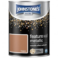 Johnstones Feature Wall Paint 1.25L Metallic Copper