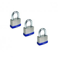 Sterling Mid Security Laminated Padlocks 40mm (3 Pack)
