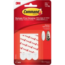Command General Purpose Refill Strips (9 Pack) Medium