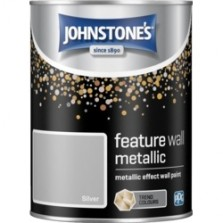 Johnstones Feature Wall Paint 1.25L Metallic Silver