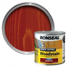 Ronseal Quick Drying Wood Stain 250ml Mahogany Satin
