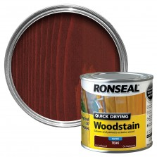 Ronseal Quick Drying Wood Stain 250ml Teak Satin