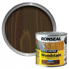 Ronseal Quick Drying Wood Stain 250ml Dark Oak Satin