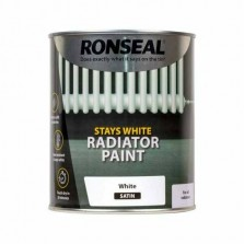 Ronseal Stays White Radiator Paint 250ml White Satin