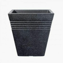 Square Piazza Pot Granite 34cm