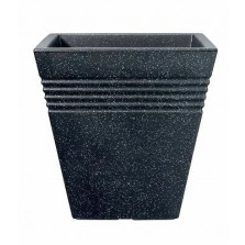 Square Piazza Pot Granite 40cm