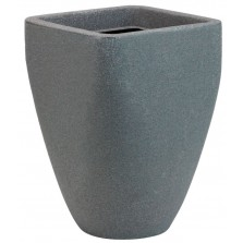 Square Top Round Base Planter Granite 46cm