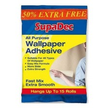 SupaDec All Purpose Wallpaper Adhesive 10 Rolls (Plus 50 Extra Free)