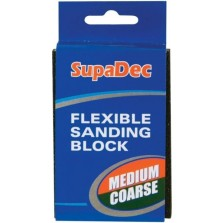 Supadec Medium/Coarse Flexible Sanding Block