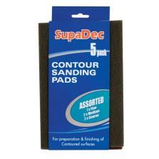 Supadec Assorted Contour Sanding Pads (5 Pack)